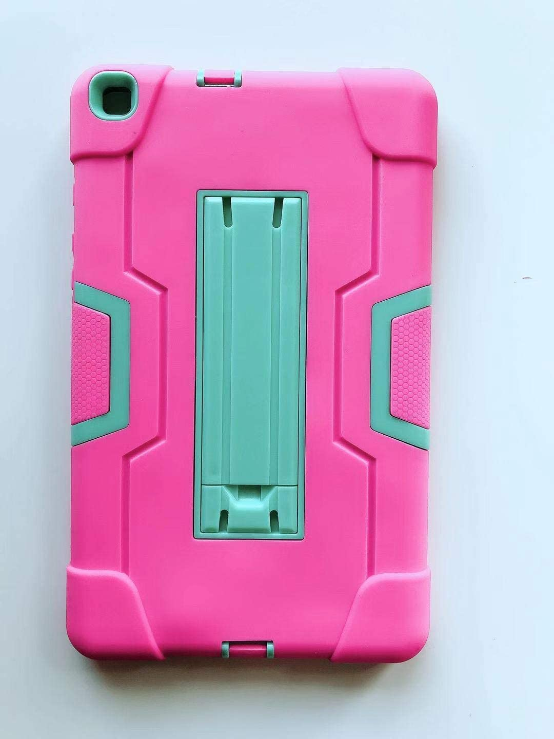 Golden Sheeps Compatible for Samsung Galaxy Tab A 8.0 2019 Model SM-T290 /SM-T295 Impact Hybrid Drop Proof Armor Defender Full-Body Protection Case Convertible Built in Stand (Pink Teal)