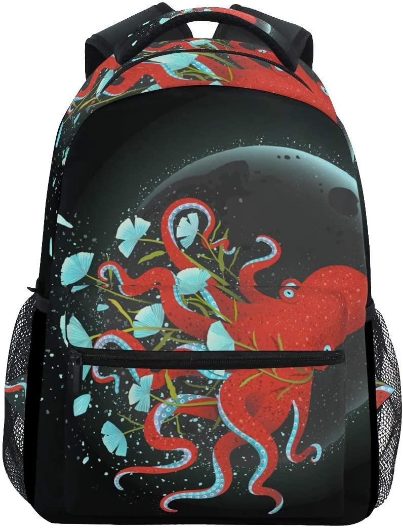 School Backpack Octopus Teens Girls Boys Schoolbag Travel Bag
