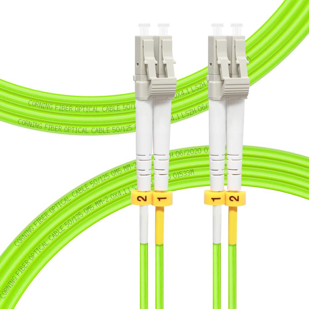 FLYPROFiber Fiber Patch Cable OM5 Multimode Duplex 4Meter(13FT) LC-LC 50/125um Fiber Optic Cable 40Gb/100Gb Fiber Patch Cord 4M(13ft)