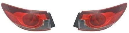 Go-Parts - PAIR/SET - for 2014 - 2017 Mazda 6 Rear Tail Lights Lamps Assembly / Lens / Cover - Left & Right (Driver & Passenger) Side Outer - (Sedan) MA2805113 MA2804113 GJR9-51-150A GJR9-51-160A