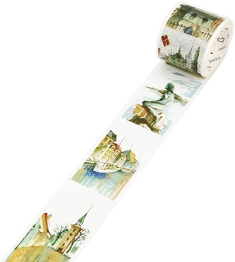 Decorative Craft Masking Tape DIY Crafts Gift Washi Tape 40mmx7m,Denmark