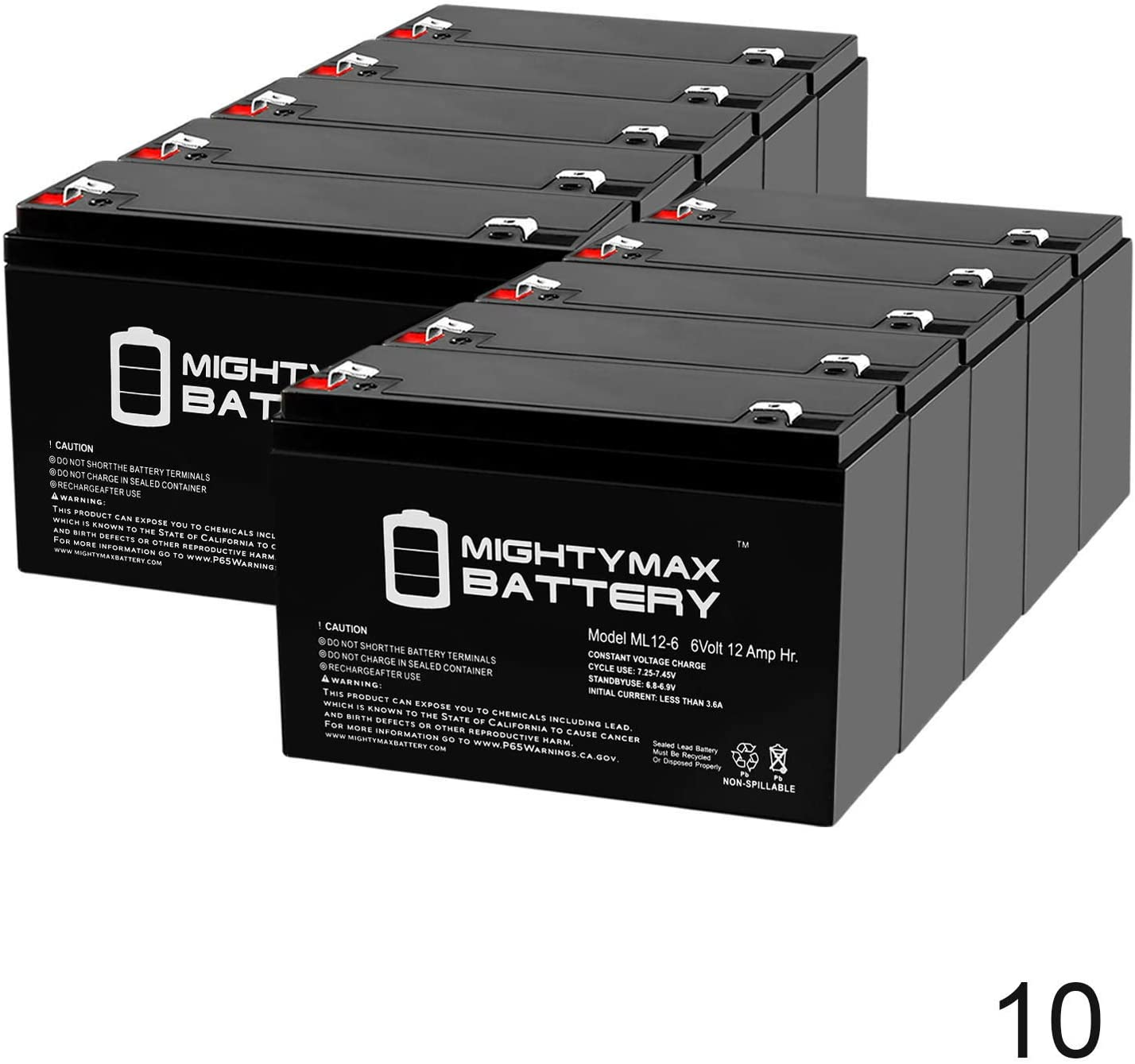 Mighty Max Battery 6V 12AH SLA Replacement Battery for Ritar RT6120, RT 6120-10 Pack Brand Product