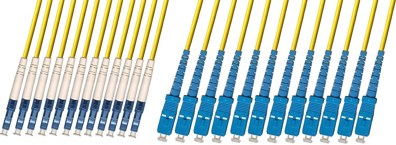 RiteAV - Direct Burial/Outdoor LC-SC 12-Strand Fiber Optic Cable - Singlemode (9/125) - 250M