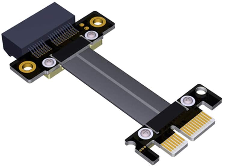ADT-Link Riser Card PCI Express PCIe 3.0 x1 Mining Graphics Card Ribbon Cable Extension 180 Flat High Speed PCI-E 1x 16x R11SF Extender (30cm)