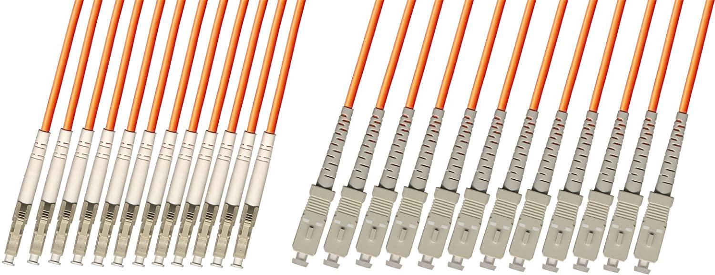 RiteAV - Direct Burial/Outdoor LC-SC 12-Strand Fiber Optic Cable - Multimode (62.5/125) - 10M
