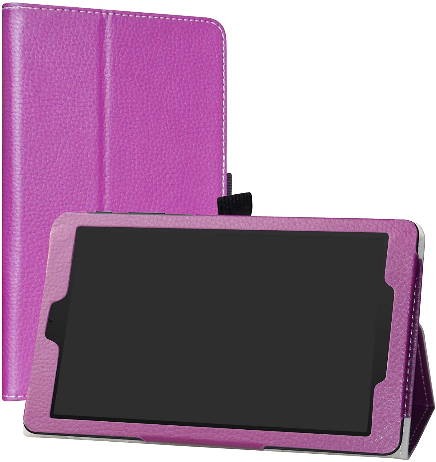 LiuShan Compatible with Alcatel Joy Tab Case, Alcatel 3T 8 Tablet Case,PU Leather Slim Folding Stand Cover for T-Mobile Alcatel Joy Tab 8-inch Tablet/Alcatel 3T 8-inch Tablet,Purple