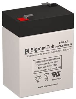 LW-3FM4 6 Volt 4.5 AmpH SLA Replacement Battery with F1 Terminal