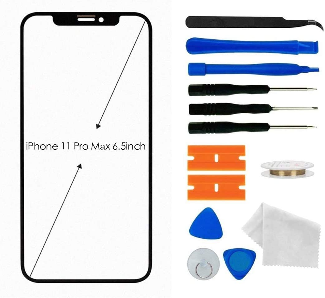 UVER Original Apple iPhone 11 Pro Screen Replacement, Front Outer Lens Glass Screen Replacement Repair Kit for Apple iPhone 11 Pro 6.5 inch Series incl Tool Kit, iPhone 11 Pro Max 6.5 inch