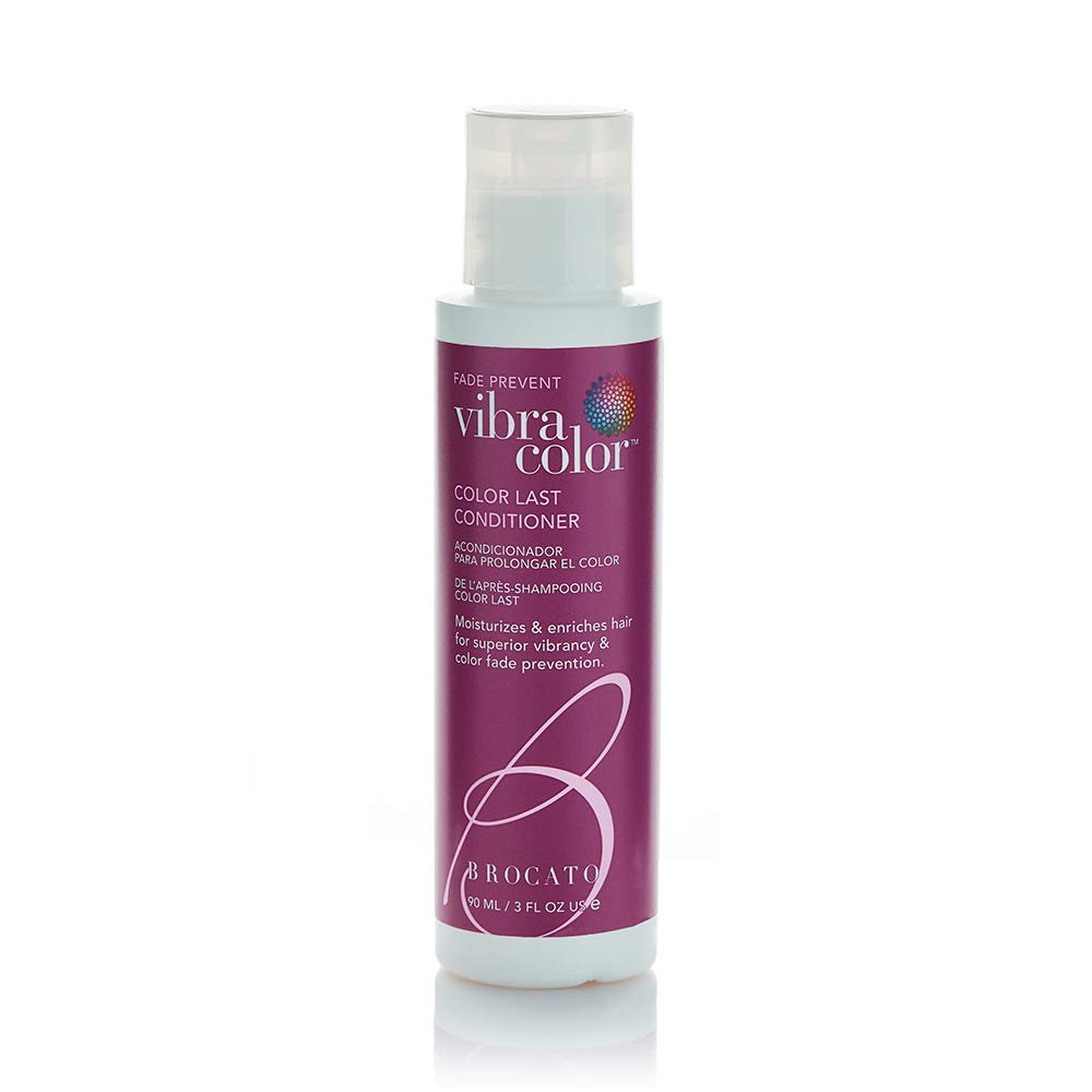 Brocato Vibracolor Color Last Conditioner: Color Safe Conditioner for Colored Hair - Prevents Fading and Extends the Life and Brilliance of Colored Hair - No Sulfate or Parabens - 3 Oz