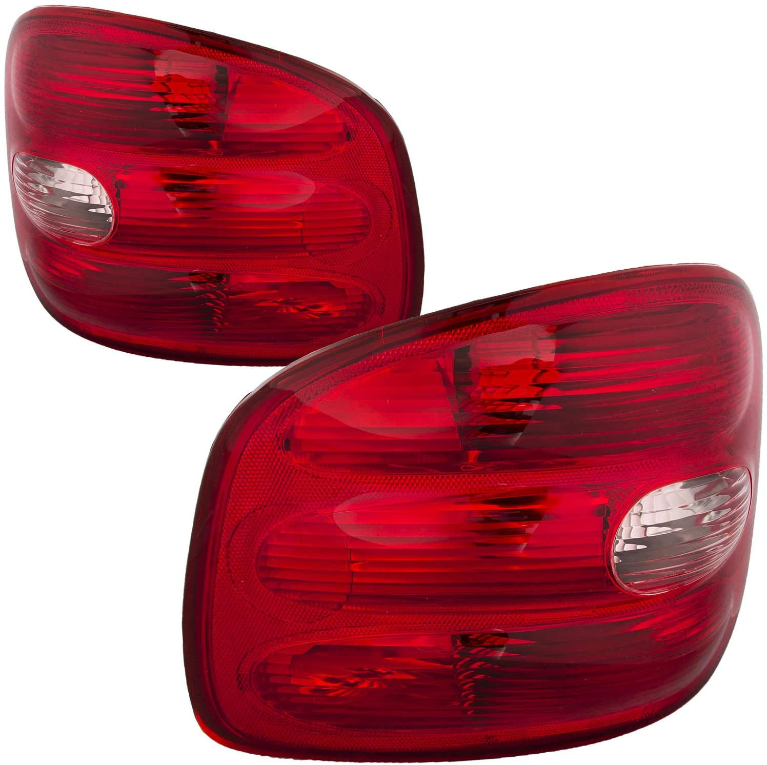 HEADLIGHTSDEPOT Tail Lights Set Compatible with Ford F-150 F-250 Flareside models produced up to 2/11/00