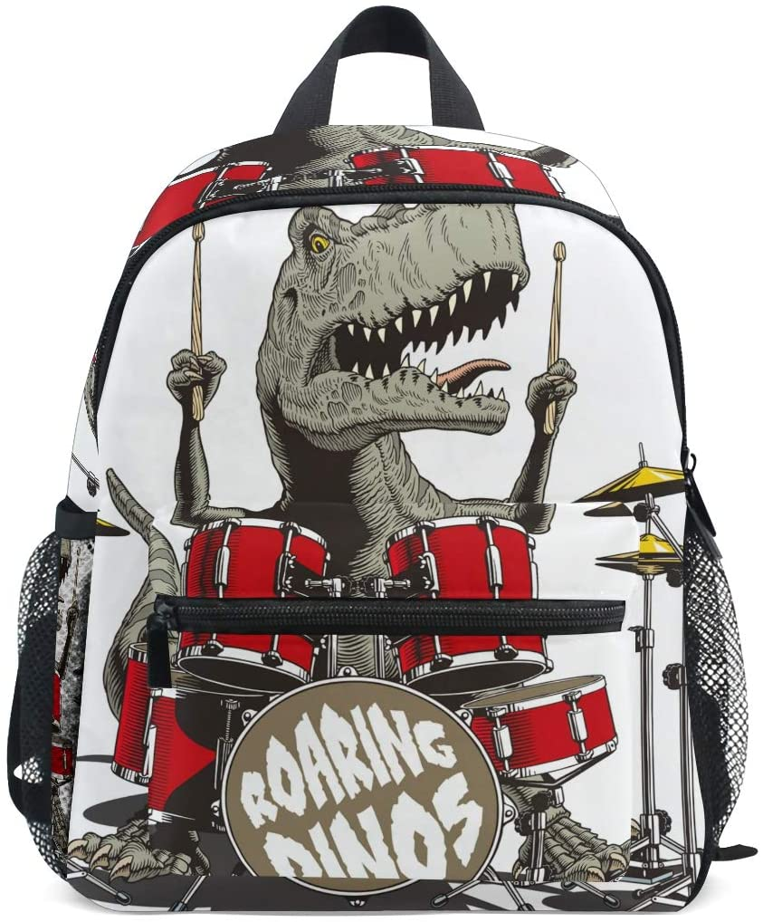 Roaring Dinos Music Dinosaur Backpack for Girls Boys Kid School Travel Children Mini Bookbag
