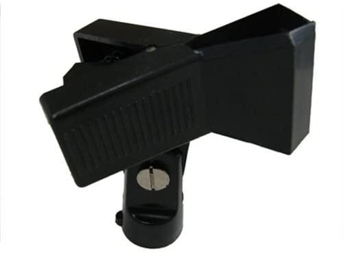 Universal Microphone Clip Holder, Black Metal, Spring Loaded