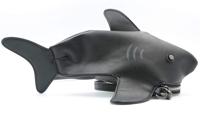 QiMing Shark Shoulder Purses,PU Originality CrossBody Bag for Girl Women