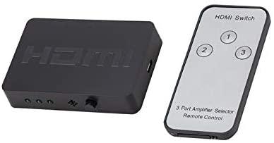 HDMI Splitter 3 Port Hub Box Auto Switch 3 in 1 Out Switcher 1080p HD 1.4 Rodalind