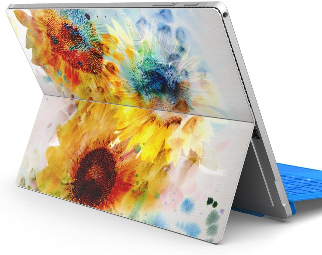 igsticker Decal Cover for Microsoft Surface Pro 7(2019)/ Pro 6 /Pro 2017/ Pro 4/Ultra Thin Protective Body Sticker Skins 005339 Flower Flour Color