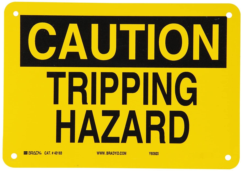 Brady 43183 Aluminum Fall Protection Sign, 7