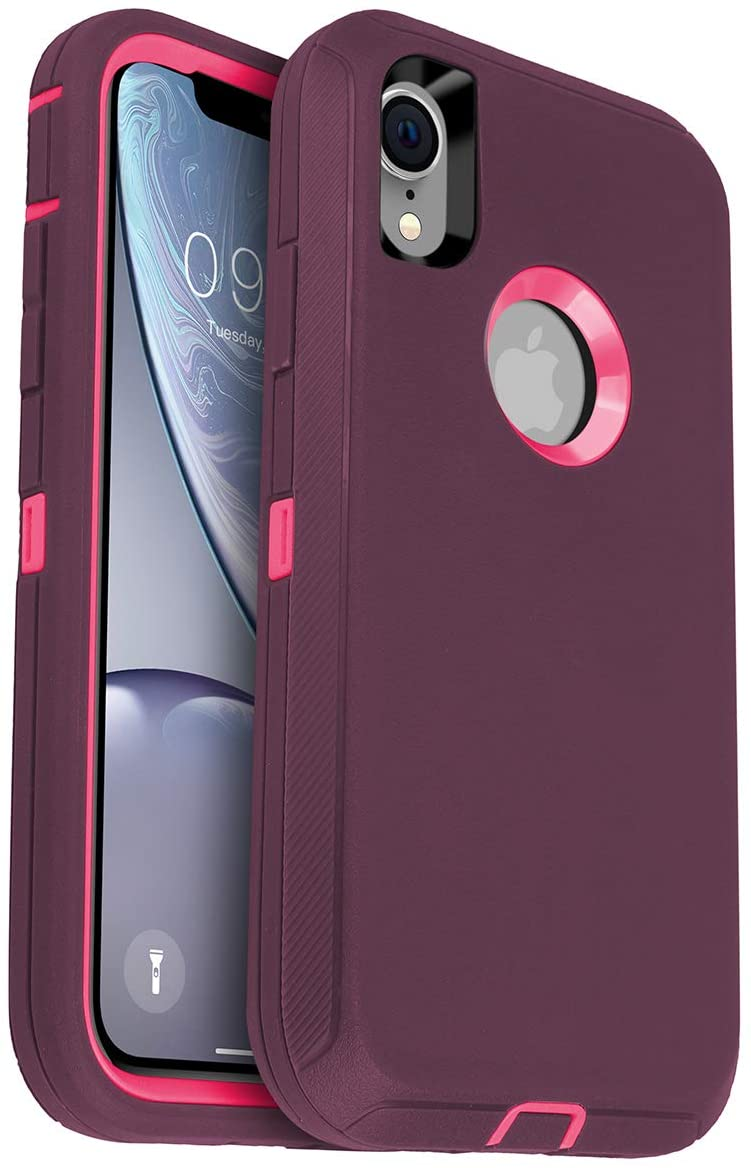 AICase for iPhone XR Case, Drop Protection Full Body Rugged Heavy Duty Case, Shockproof/Drop/Dust Proof 3-Layer Protective Durable Cover for Apple iPhone XR
