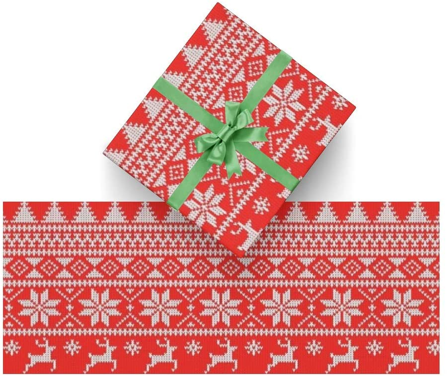Gift Wrapping Paper Roll Snowflake Christmas for Christmas,Birthday,Holiday,Wedding,Baby Gifts Packing - 3Rolls - 58inch x 23inch Per Roll