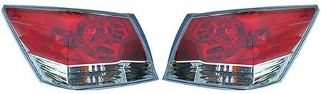 For 2008-2012 Honda Accord Pair Rear Tail Lights Driver and Passenger Side Sedan HO2800172 HO2801172 - replaces 33500-TA0-A01 33500-TA0-A01