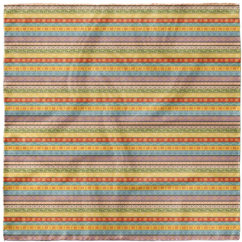 Lunarable Striped Hairscarf, Tribal Hand Drawn Style, Head Wrap