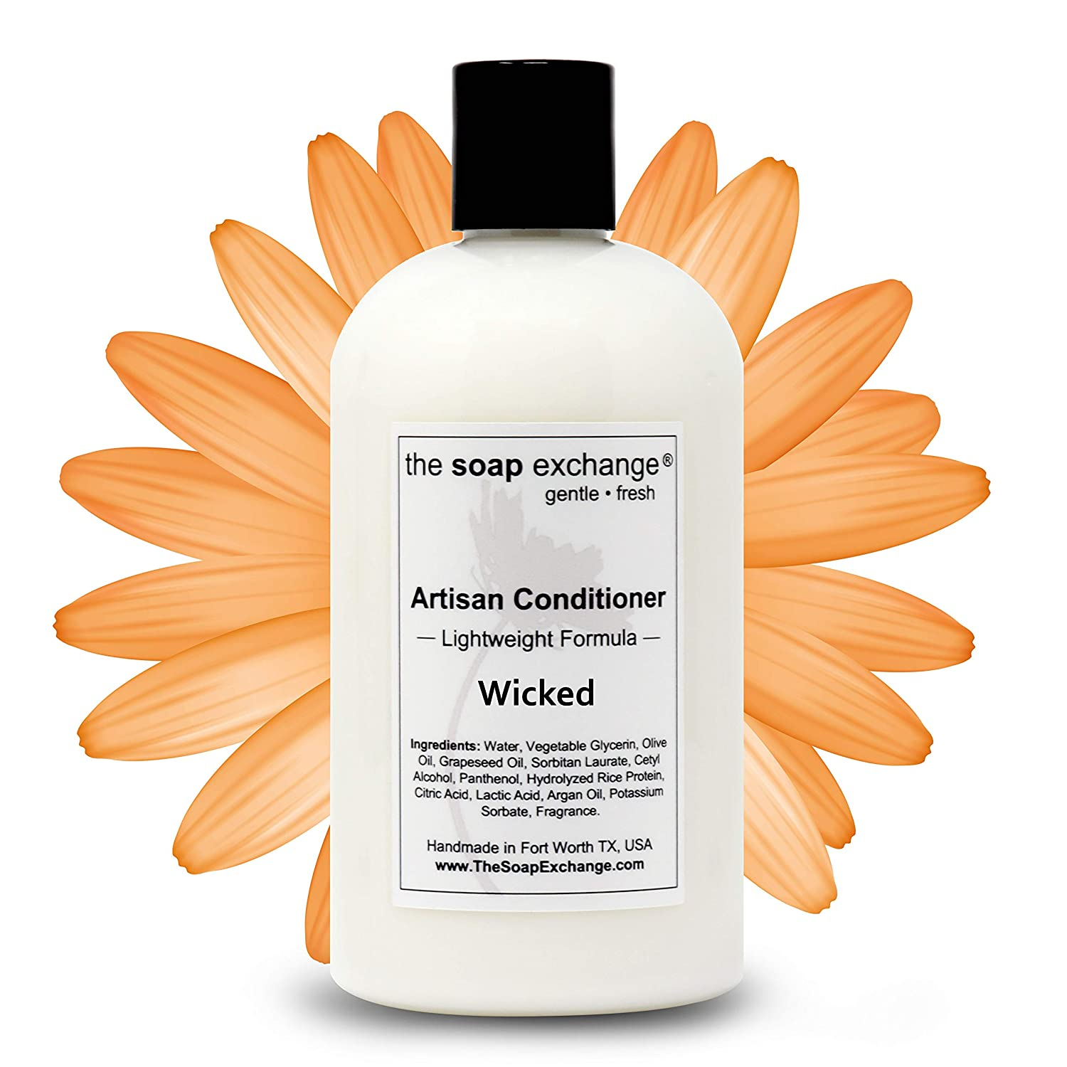 The Soap Exchange Hair Conditioner - Wicked Scent - Hand Crafted 12 fl oz / 354 ml Natural Artisan Hair Care, Sulfate & Paraben Free, Nourish, Moisturize, Protect. Made in the USA.