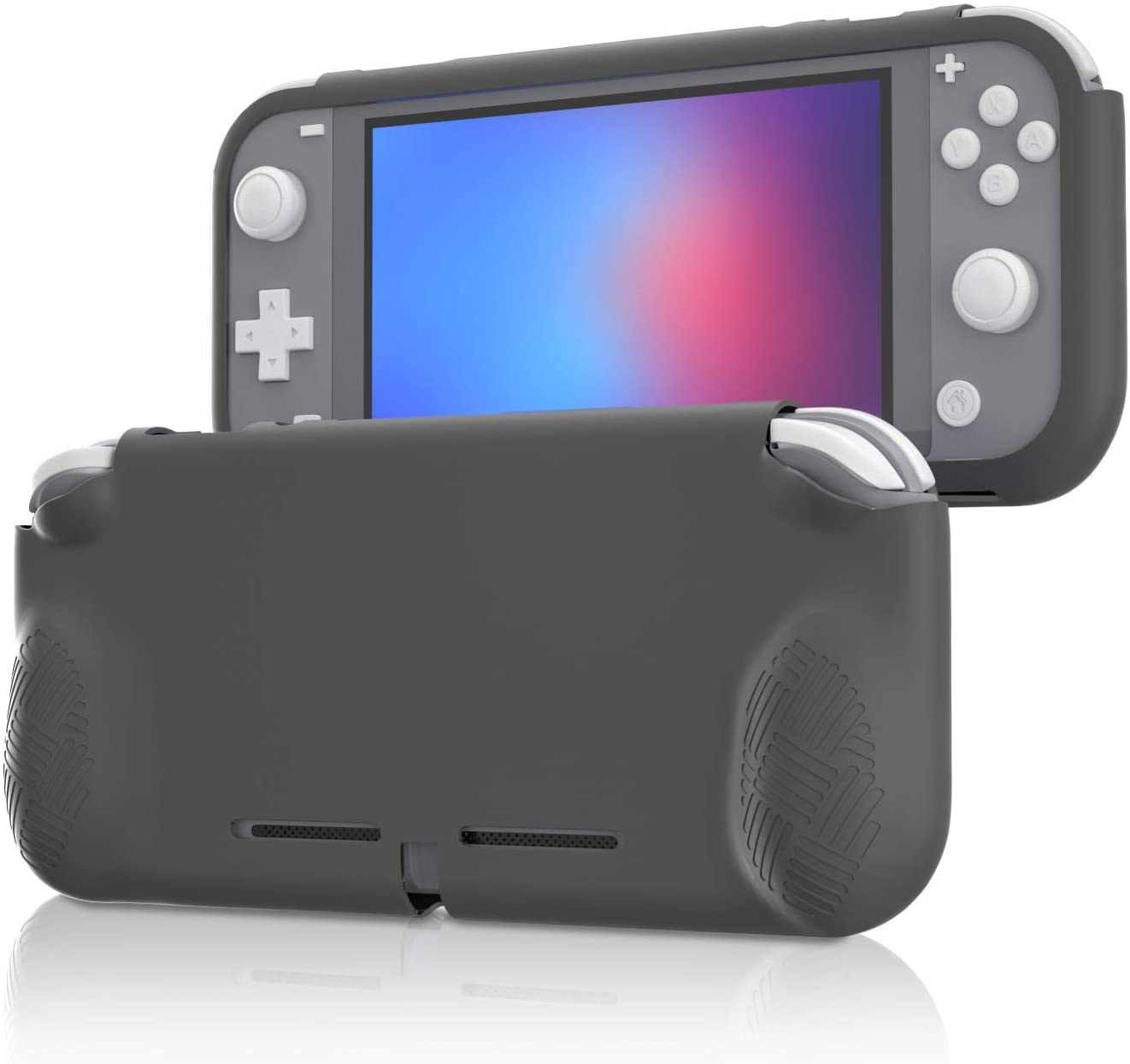 Grip Case Compatible with Switch lite, Protective Cover Case Compatible with Switch lite - Gray