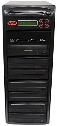 Systor Multi Media Flash Backup Center + 1 to 6 SATA DVD Duplicator - Back up Different Flash Memory Drives (USB/SD/CF/MS/MMC) to CD/DVD (PMBC-6)