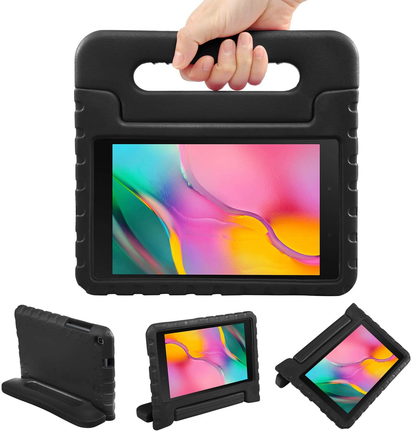 NEWSTYLE Kids Case for Samsung Galaxy Tab A 8.0 2019 SM-T290/T295, Shockproof Light Weight Protection Handle Stand Kids Case for Samsung Galaxy Tab A 8.0 Inch 2019 Tablet (Black)