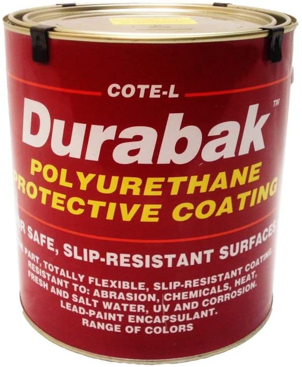 Durabak Original (For Indoors), TEXTURED version - Non Slip Coating, Bedliner, Deck Paint for ALL Boats - Many colors to choose from! - MEDIUM BLUE - GALLON