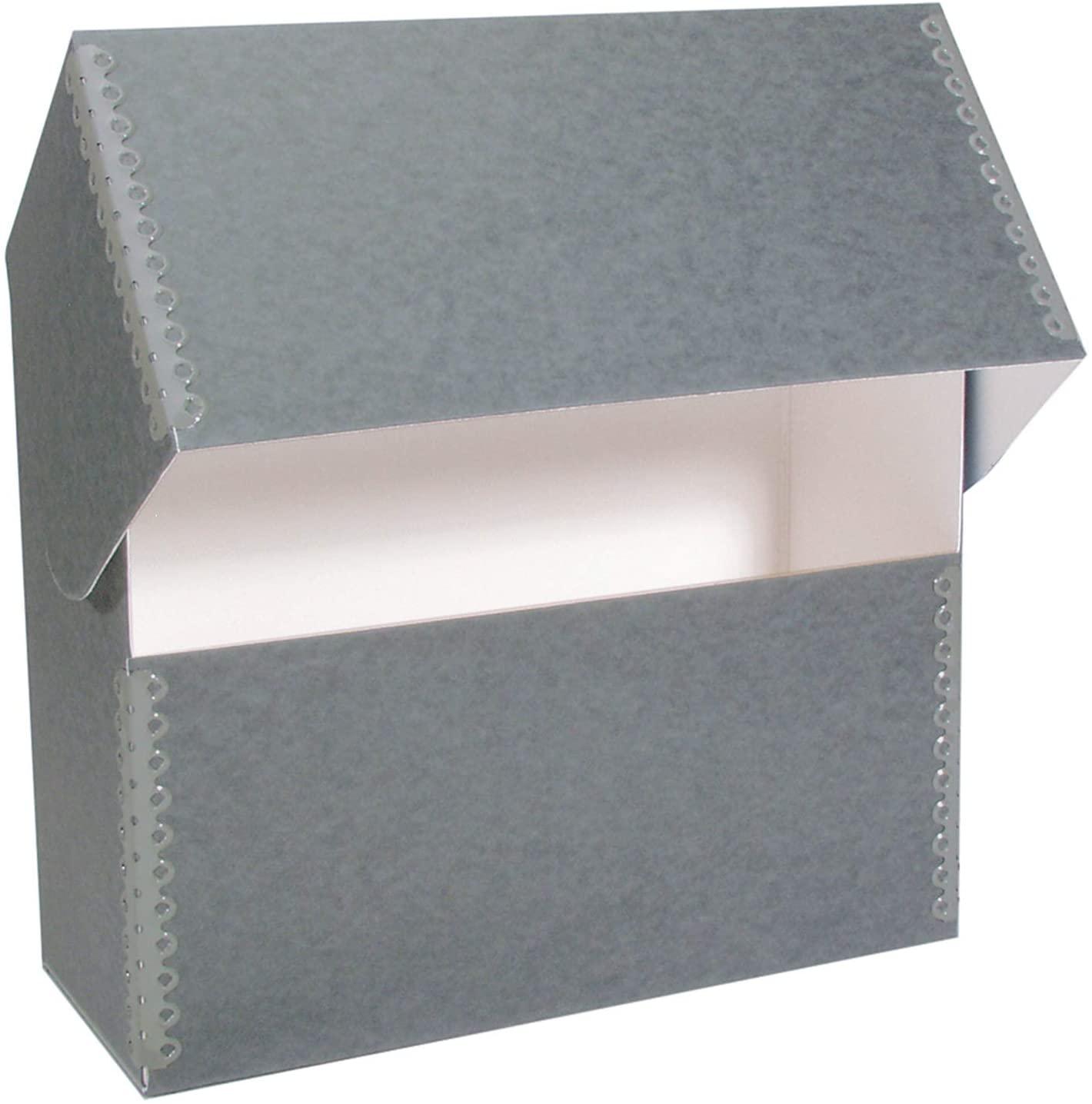 Lineco Document Case, Legal Blue Gray 15.25 x 10.25 x 2.5