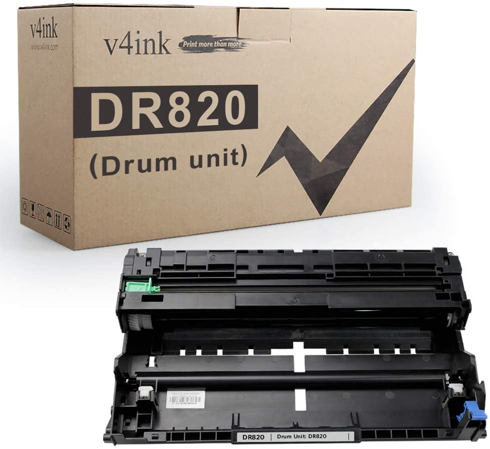 v4ink 1 Black New Compatible Replacement for Brother DR820 DR-820 Drum Unit for use with Brother HL-L6200DW L6200DWT L5100DN L5200DW L5200DWT L6300DW MFC-L5900DW DCP-L5500DN Printer, Enhanced Version