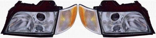 Go-Parts - PAIR/SET - for 1996 - 1997 Audi A6 Quattro Front Headlights Assembly Front Housing / Lens / Cover - Left & Right (Driver & Passenger) Side AU2502105 AU2503105 4A0 941 003 BF 4A0 941 004