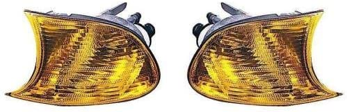 Go-Parts - PAIR/SET - for 2001 - 2001 BMW 325Ci Parking Lights Assembly / Lens Cover - Left & Right (Driver & Passenger) Side - (Convertible + 2 Door; Coupe) BM2520106 BM2521106 63 12 6 904 299 63