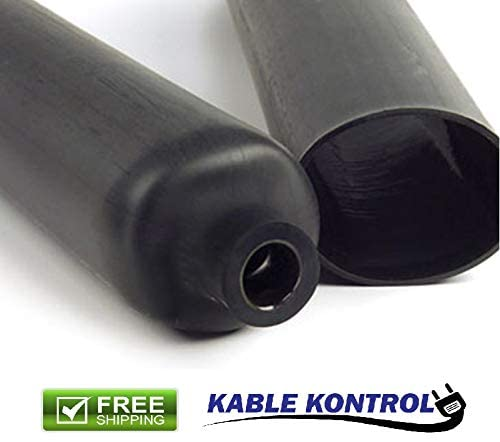 Kable Kontrol Black Dual Wall Adhesive Lined Heat Shrink Tubing (3:1 Shrink Ratio) (1/2