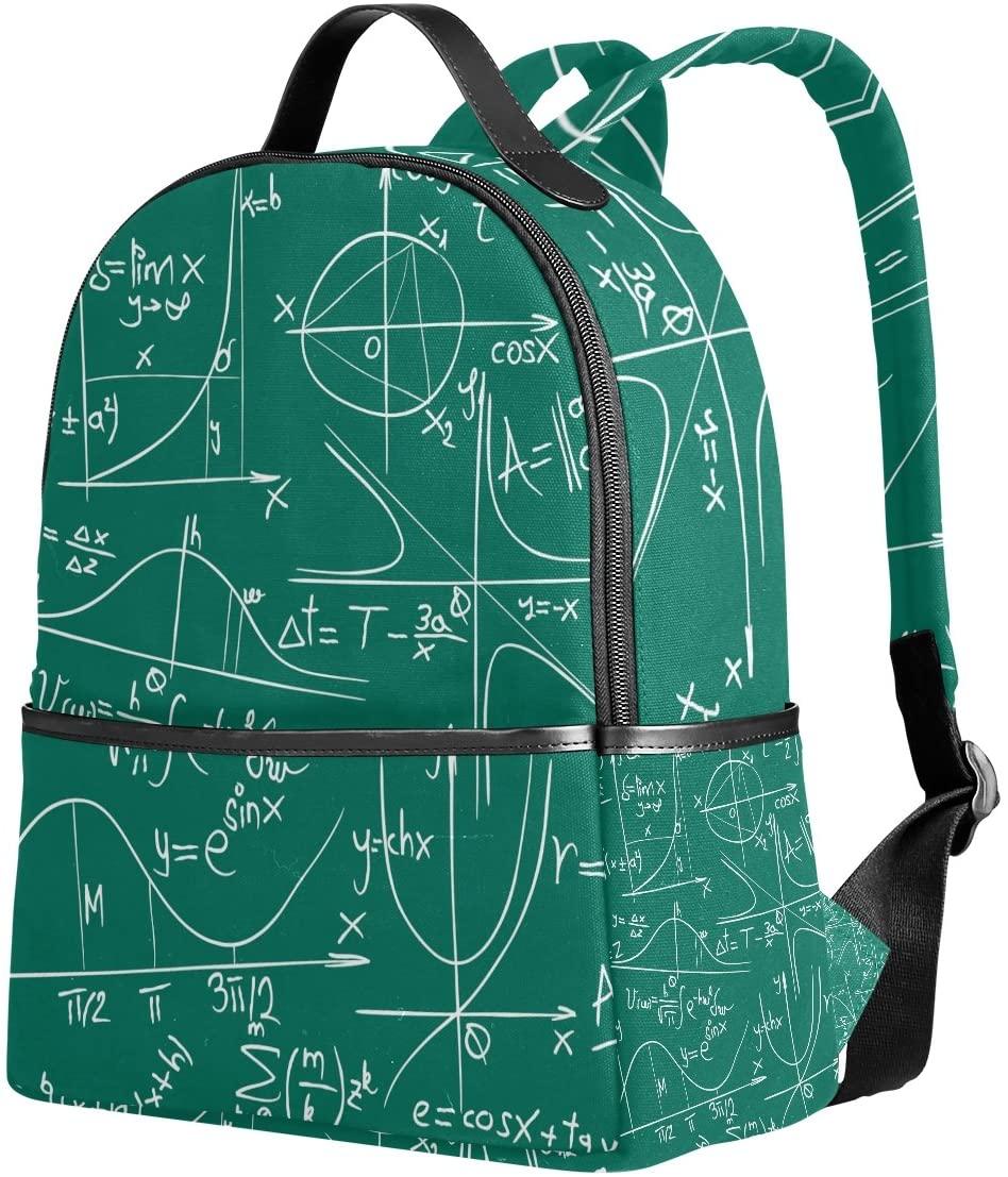 YZGO Math Geometry Children School Backpacks for Boys Girls Youth Canvas Bookbags Travel Laptop Bags