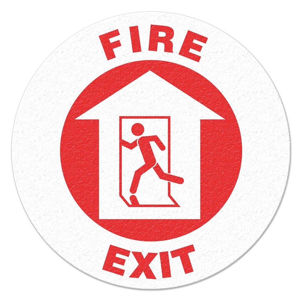 Incom/Top Tape & Label - FS1010V - Safety Floor Sign, Fire Exit, Text/Symbol