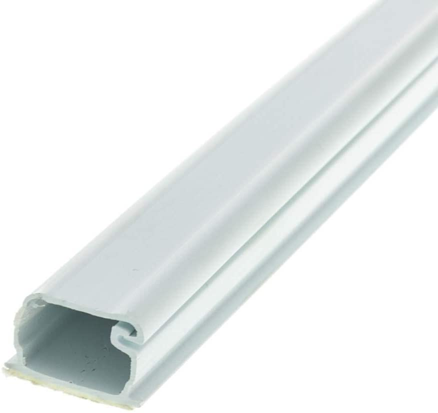 GOWOS 1.75 inch Surface Mount Cable Raceway, White, Straight 6 Foot Section - Fire Box Straight nonmetallic Wiring Cable