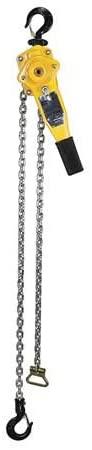 Lever Chain Hoist, Cap 1500Lb, Lift 20Ft