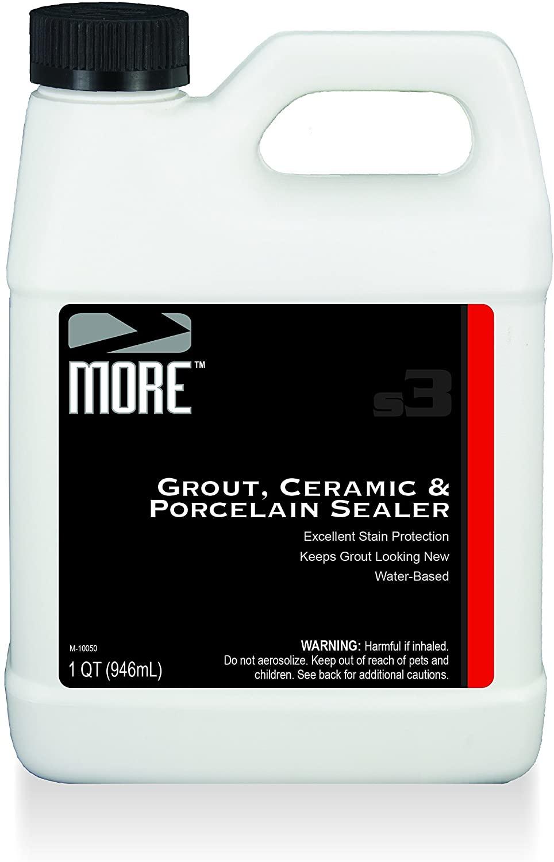 MORE Grout, Ceramic & Porcelain Sealer - Water Based Formula for Stain Protection [Quart / 32 oz]