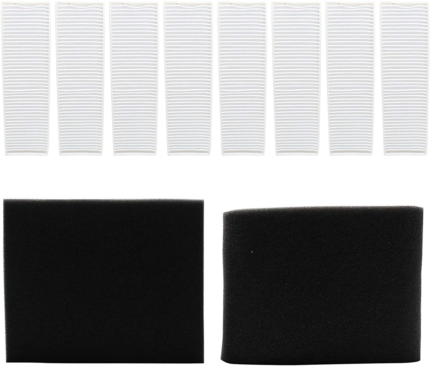 Replacement Bissell Vacuum Style 7 Filter - 8 Pleated Post Motor, 1 Upper Tank and 1 Pre-Motor Filter - For Bissell Style 7, Bissell 71Y7, Bissell 6591, Bissell 3576, Bissell 3593, Bissell 8990