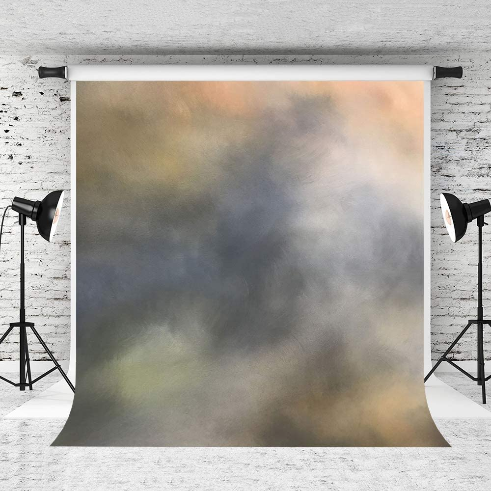 Kate 10x10ft Abstract Portrait Photography Backdrop Color Lump Grey Colored Background Professional Photo Studio Backdrop