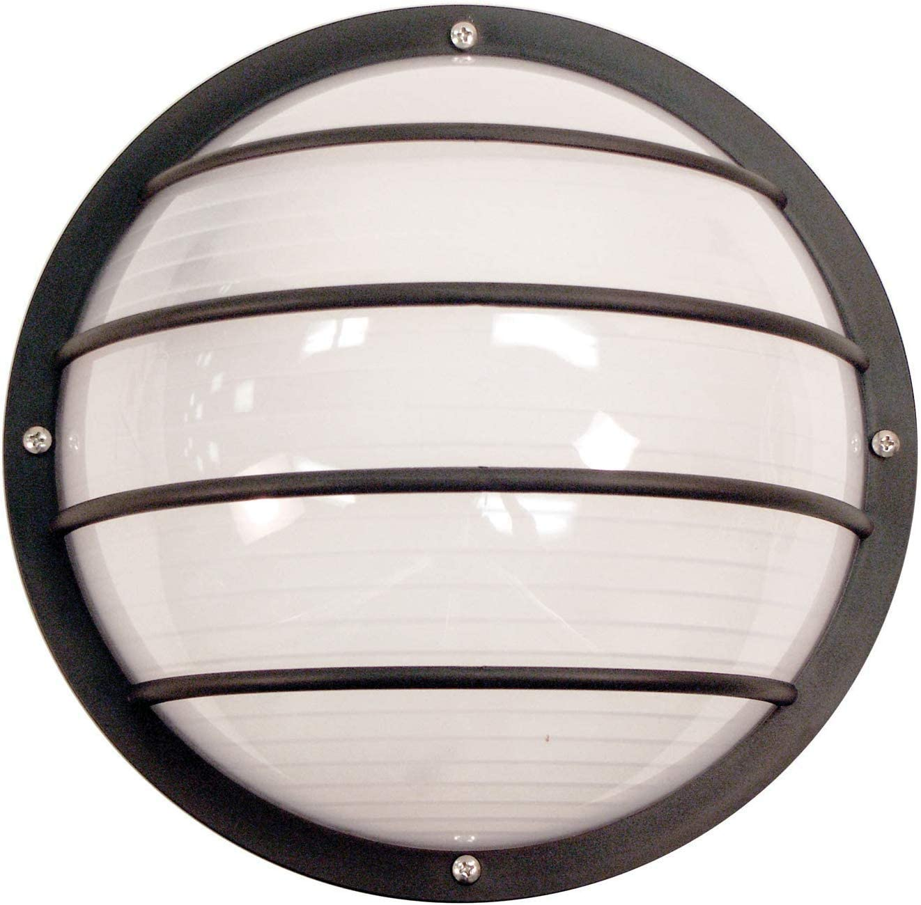 Solus S761WF-LE26C-BK Bulkhead Wall & Ceiling Mount Light with 4000K Energy Star LED Lamp, Durable & Frosted Polycarbonate Lens, Fade & Rust Resistant, UL Listed, 10 ¼