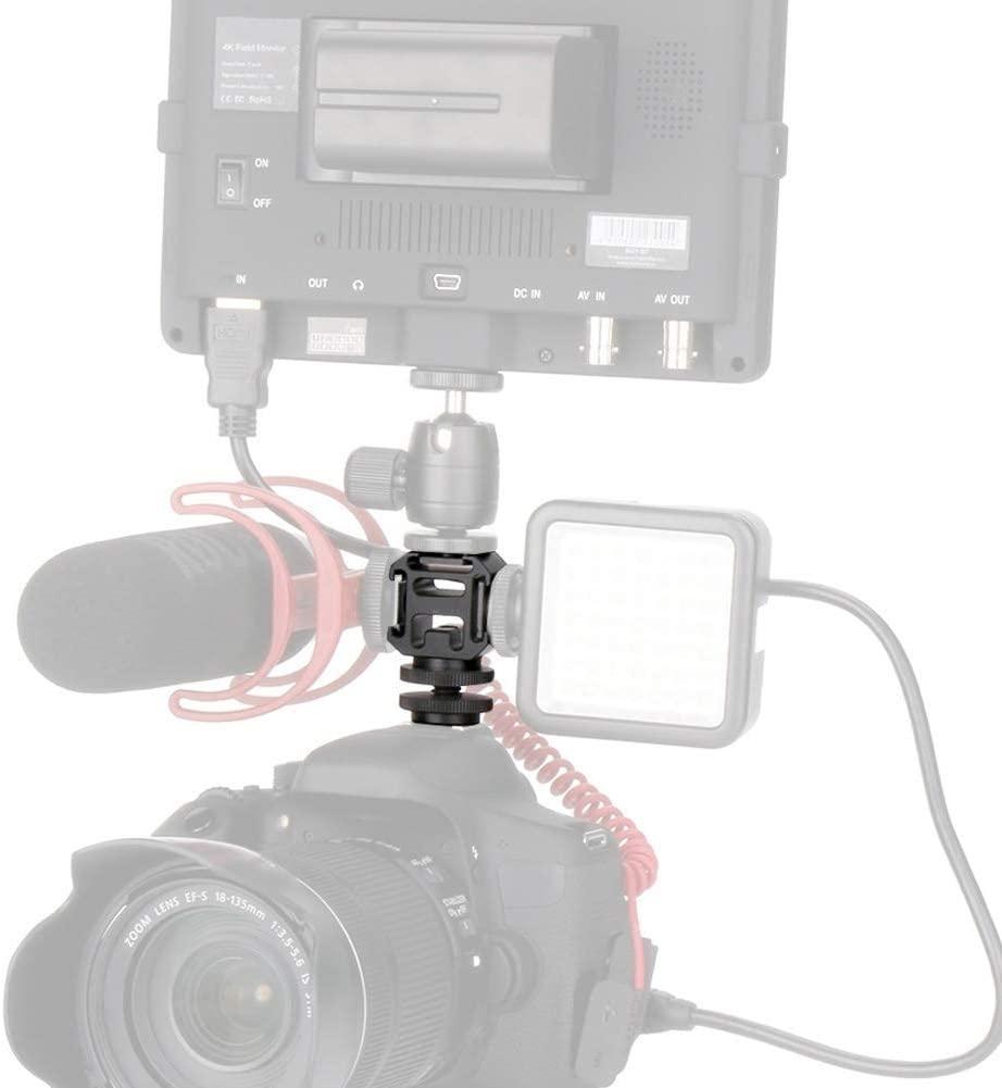 Vbestlife Mini Metal Camera Base Tripod Hot Shoe Mount Adapter for Microphone, LED Light, Monitor, DSLR Cameras