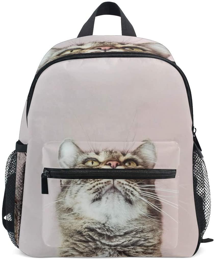 Kids School Bag Backpack Animal Cat Children Bookbag