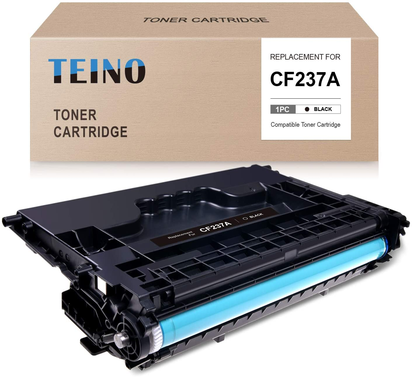 TEINO Compatible Toner Cartridge Replacement for HP 37A CF237A use with HP Laserjet Enterprise M607n MFP M632 M608dn M609dn M607dn M608n M608x MFP M631 MFP M633 (Black, 1-Pack)