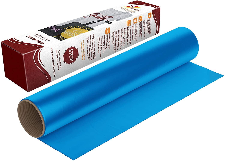 Firefly Craft Regular Blue Heat Transfer Vinyl Sheet | Blue HTV Vinyl | Blue Iron On Vinyl for Cricut and Silhouette | Heat Press Vinyl for Shirts - 12