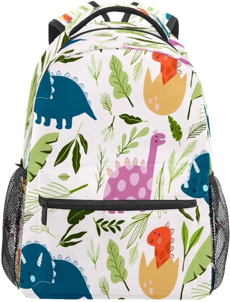 Seamless Dinosaur Pattern Backpack for Kids Girls Boys Teen Elementary School Children Bookbag Camping Daypack Purse Laptop Bag Tote multfunction Pocket with Wide Shoulder Straps