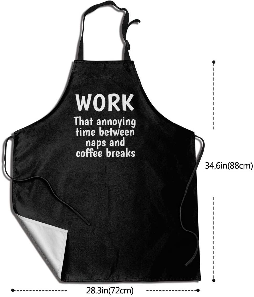 Funny Work -Adjustable Unisex Apron Full Length-Commercial Restaurant Kitchen