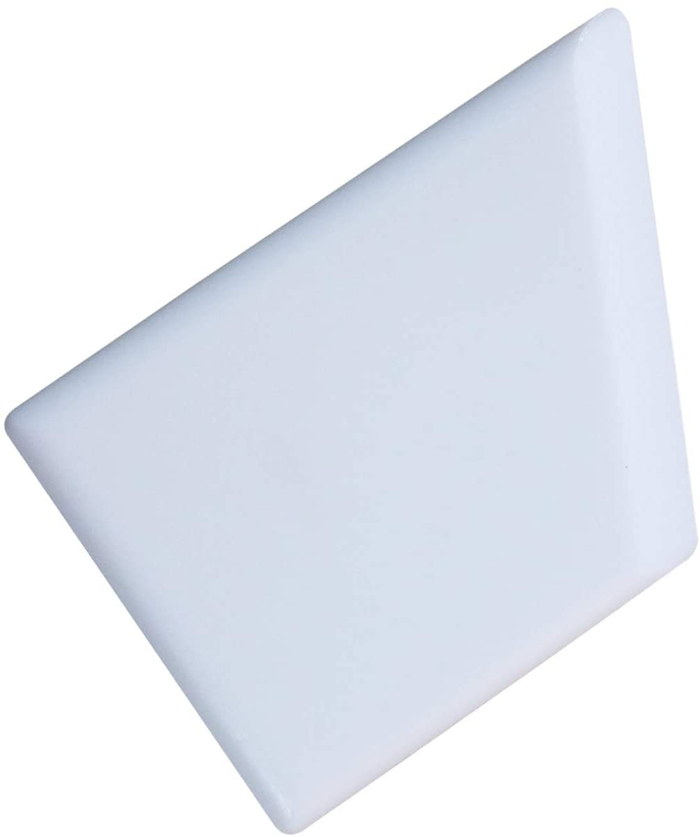 Crafty Gnome Teflon Ergo Square Bone Folder - 100% Teflon, Extra Smooth, White, Premium Quality for Scoring, Folding, Creasing, Bookbinding, Origami, Scrapbooking & More