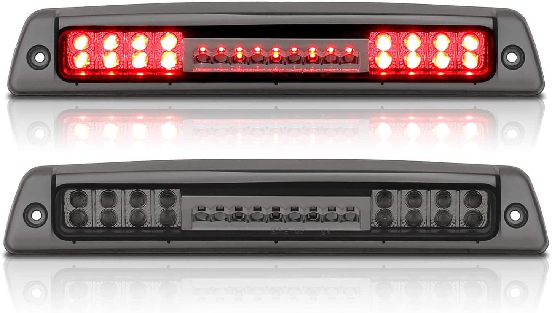 AmeriLite Smoke LED High Mount Stop 3rd Brake Lights for 94-01 Dodge RAM Truck